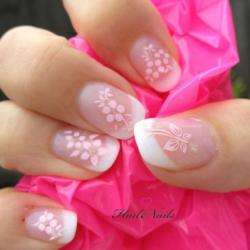 Lovely Pale Pink Flower Nail Art for Bridal Nails 2061674 Weddbook