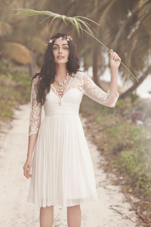 omari dress short beach wedding dress Catherine Deane ivory Omari Dress BHLDN
