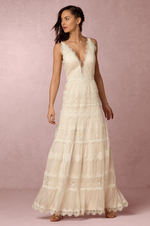bride wedding dresses spirited bohemian collection beige wedding dresses Genevieve Gown