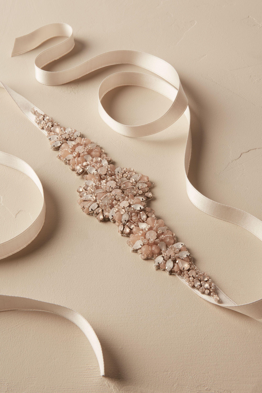veils accessories belts sashes wedding belts for dresses Blushing Blooms Sash