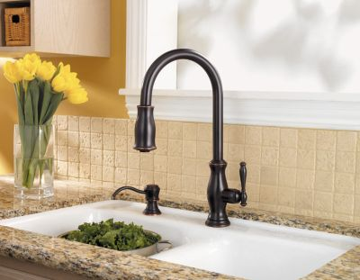 ct:r pfister kitchen faucets Tuscan Bronze Hanover 1 Handle Pull Down Kitchen Faucet GT TMY