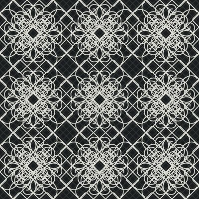 The Wallpaper Company 20.5 In. W Black and White Giro-Lace Print with Metallic Accents Wallpaper ...