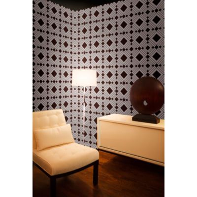 Tempaper® Removable Wallpaper in Diamond Chocolate - Bed Bath & Beyond