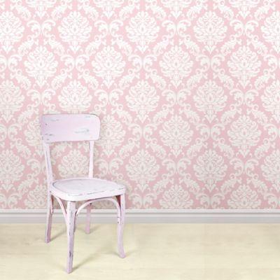 WallPops!® NuWallpaper™ Ariel Peel & Stick Wallpaper in Pink - Bed Bath & Beyond