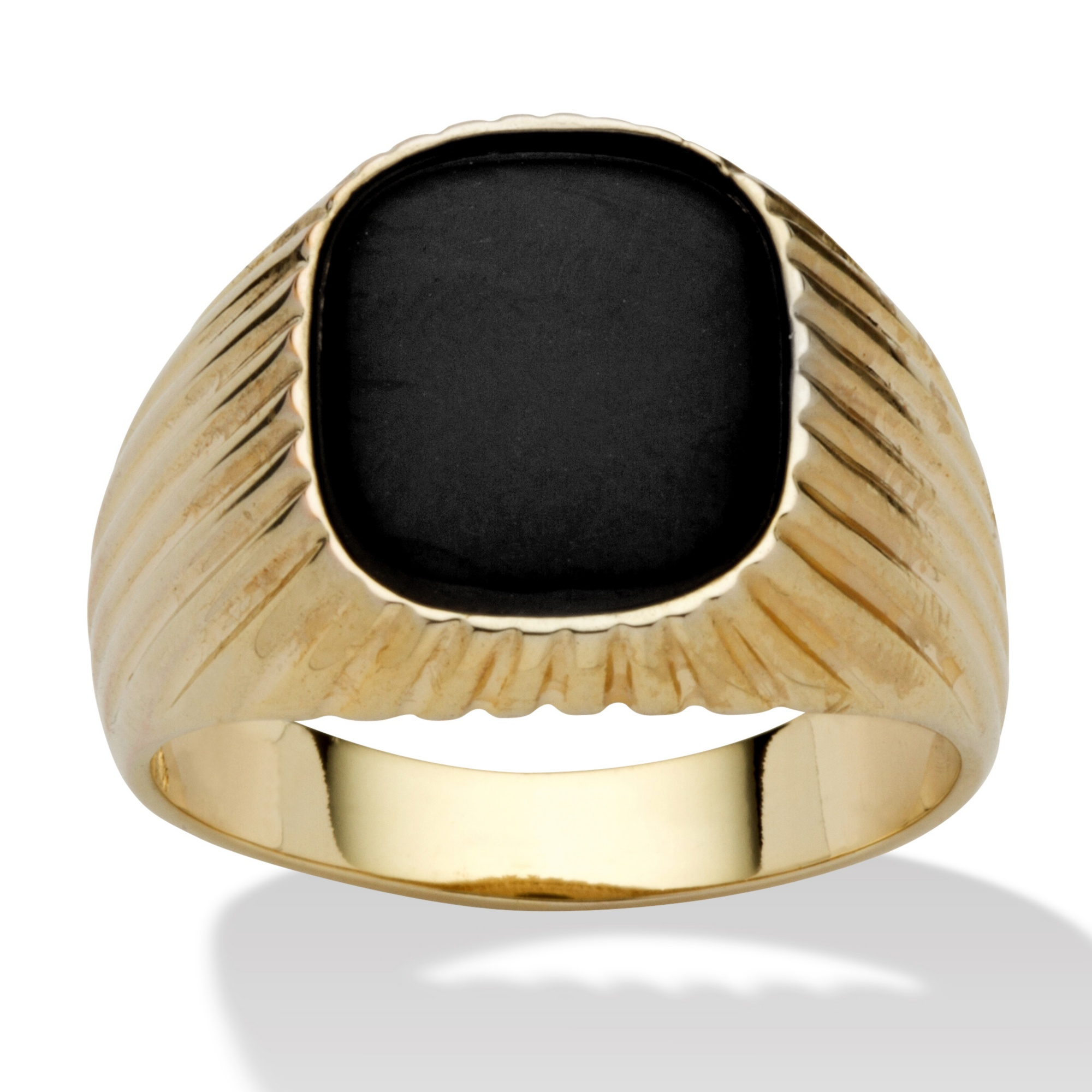 Can anyone identify this gold ring with an odd design onyx wedding band So