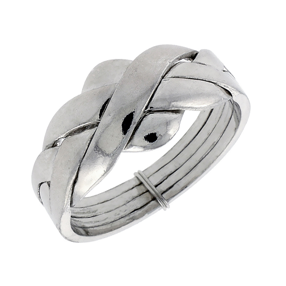 home puzzle wedding rings