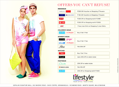 Lifestyle - Offers you can't refuse / Bangalore   SaleRaja