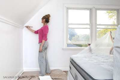 How To Paint Over Wallpaper - Salvaged Inspirations