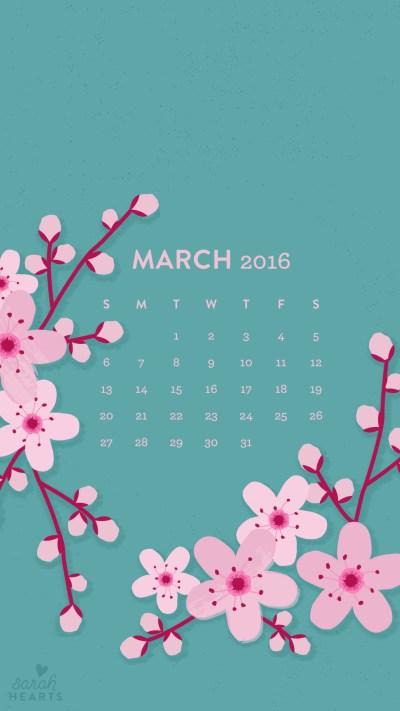 03-2016-iphone-calendar.jpg 1,080×1,920 pixels | iPhone wallpaper pretty | Pinterest