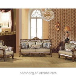 Foshan Furniture Living Room Furniture Sofa Set Handmade Wood