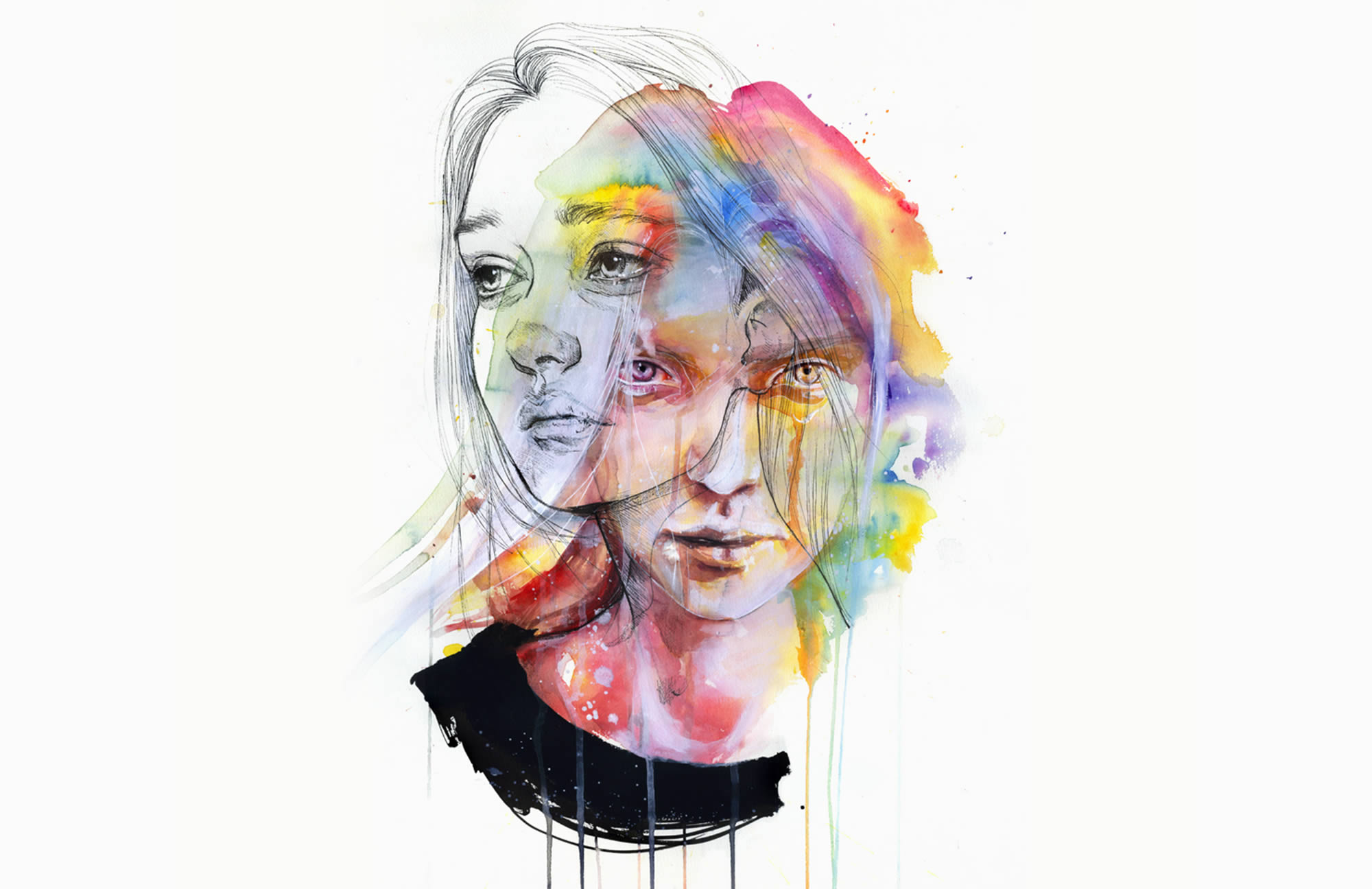 Agnes Cecile s Rainbow Watercolor Art from 2014 2015   Scene360 Agnes Cecile s Rainbow Watercolor Art from 2014 2015