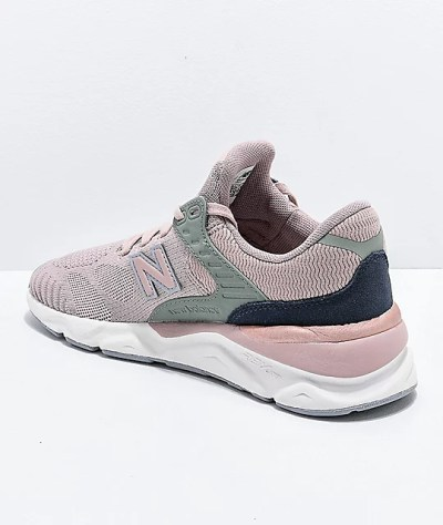 New Balance Lifestyle X90 Au Lait & Arctic Sky Knit Shoes ...