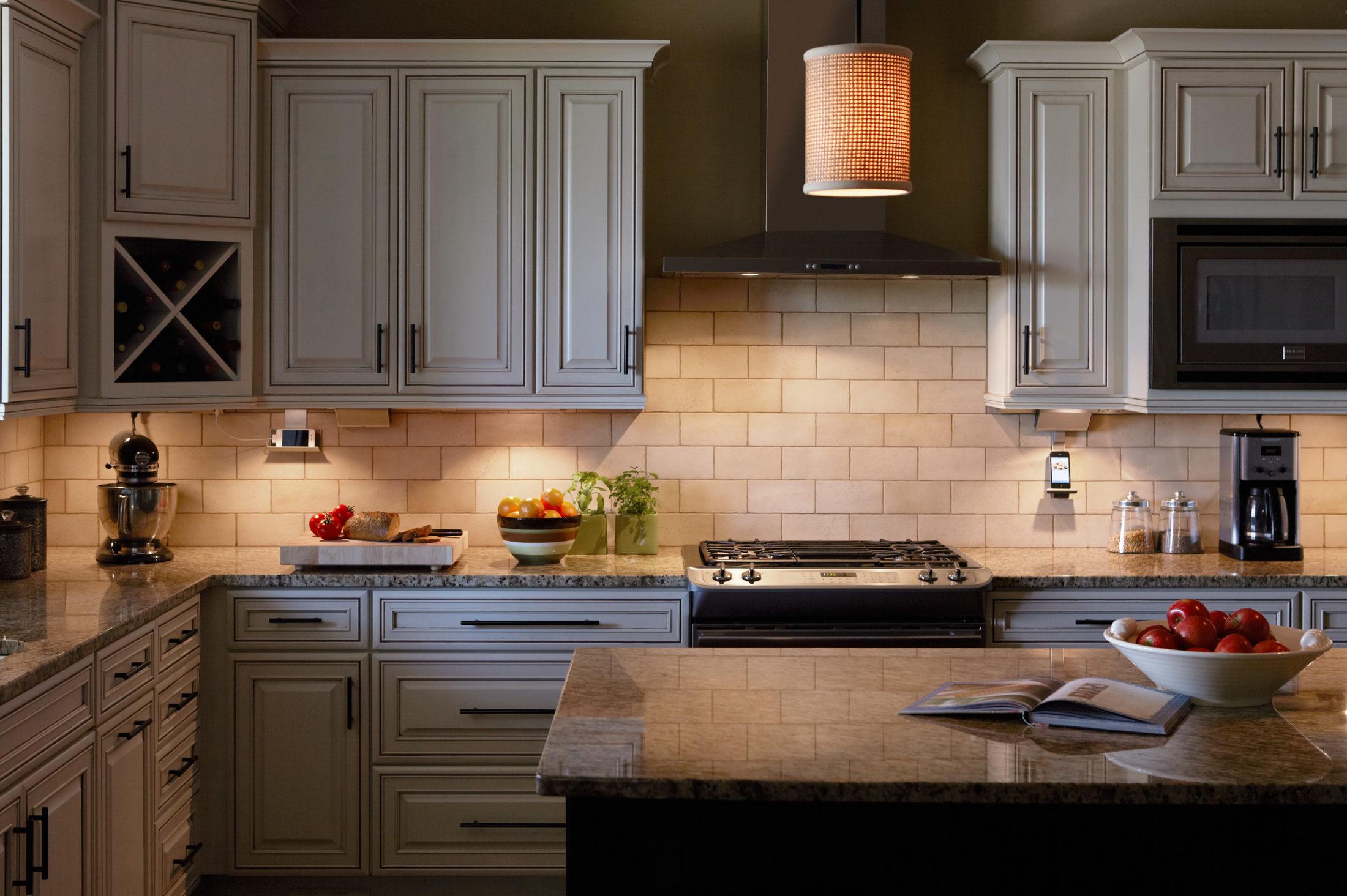 cabinet lighting light kitchen cabinets LED Strip Lights or Puck Lights