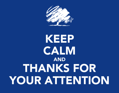 KEEP CALM AND THANKS FOR YOUR ATTENTION Poster | MONTY MONTANA | Keep Calm-o-Matic