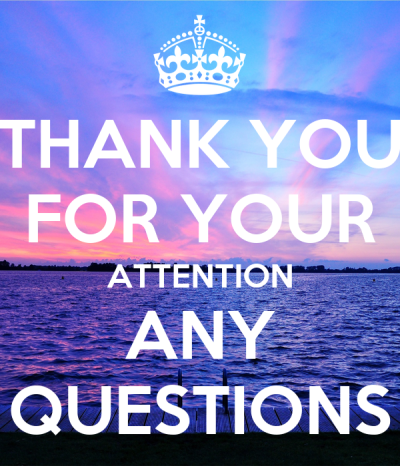 THANK YOU FOR YOUR ATTENTION ANY QUESTIONS Poster | A | Keep Calm-o-Matic