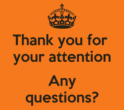 Thank you for your attention Any questions? Poster | Rebecca | Keep Calm-o-Matic