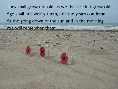 They shall grow not old, as we that are left grow old: Age shall not weary them, nor the years ...