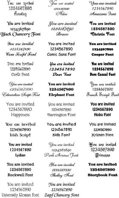 wedding invitation font | Vintage wedding