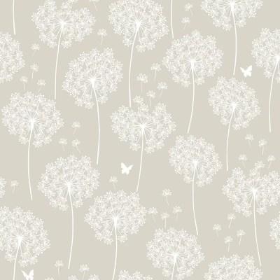 WallPops! Dandelion Taupe Peel And Stick Wallpaper & Reviews   Wayfair