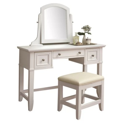 Home Styles Naples Vanity & Stool Set & Reviews | Wayfair
