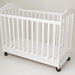 L a Baby Bedside Manor Compact Cradle Crib With Mattress Reviews