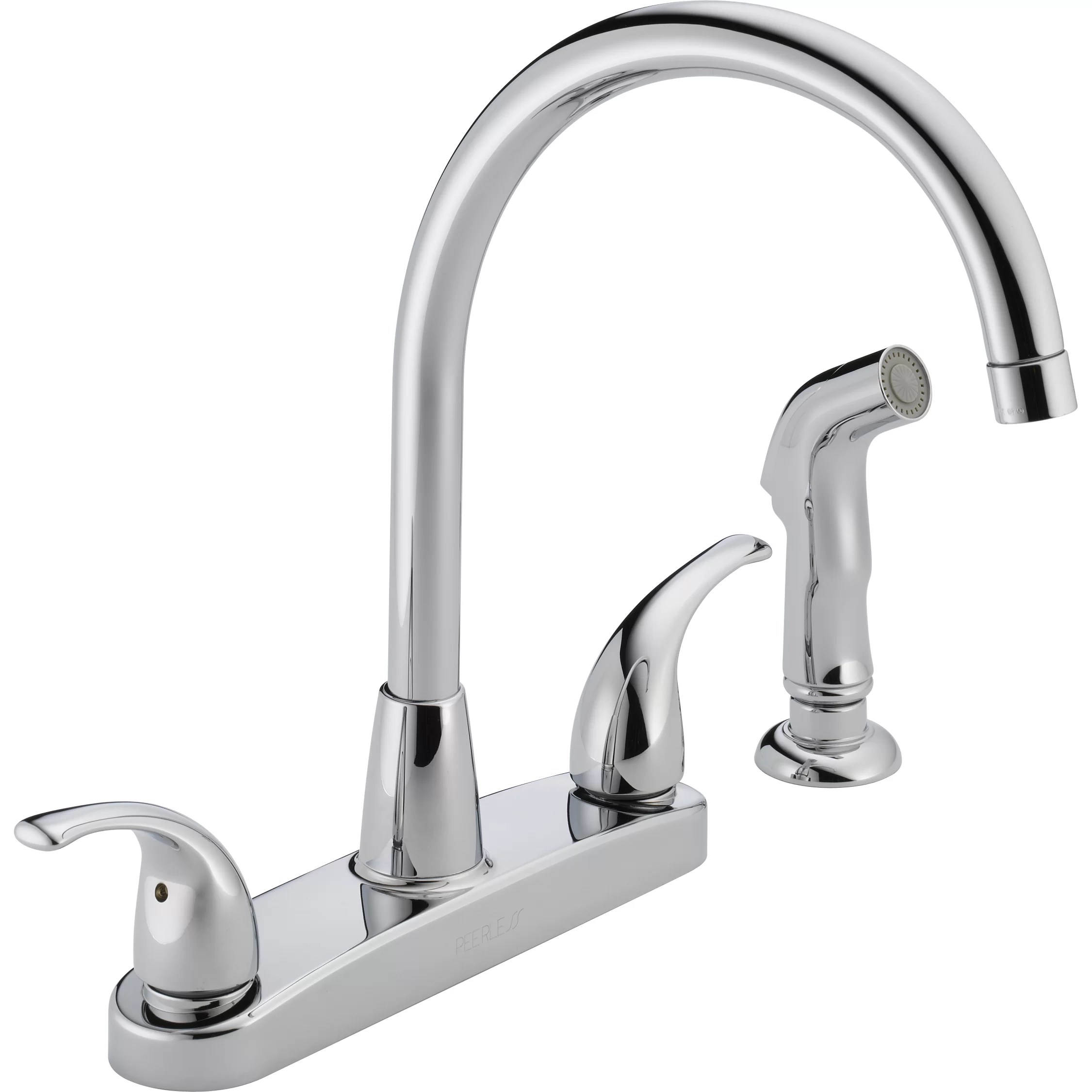 4 hole kitchen faucets c a~ widespread kitchen faucet Two Handle Centerset Kitchen Faucet with Side Spray