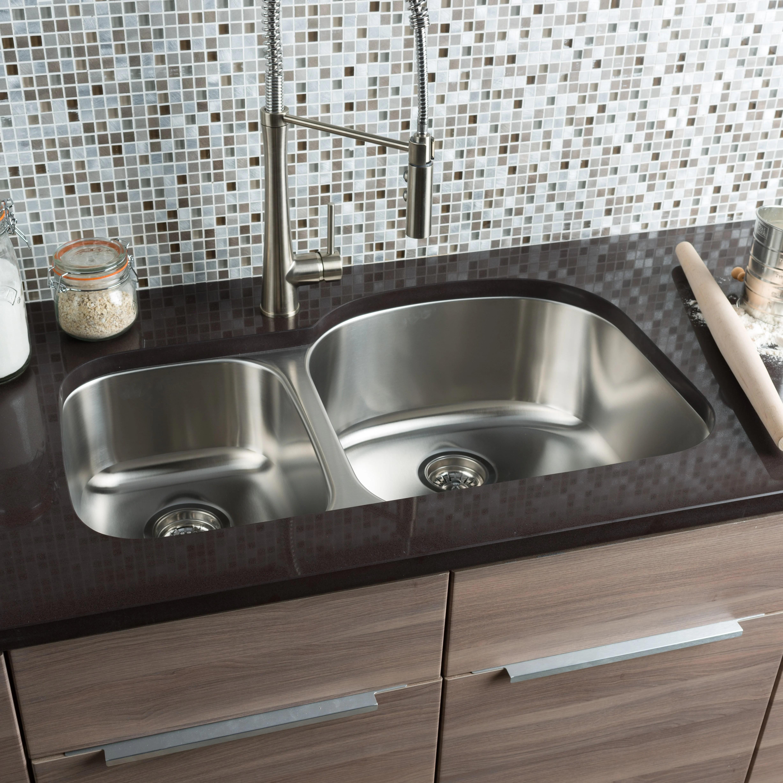 Kitchen Sinks l c O~Hahn hahn kitchen sinks Classic Chef 32 38 20 5 Double Bowl Undermount Kitchen Sink