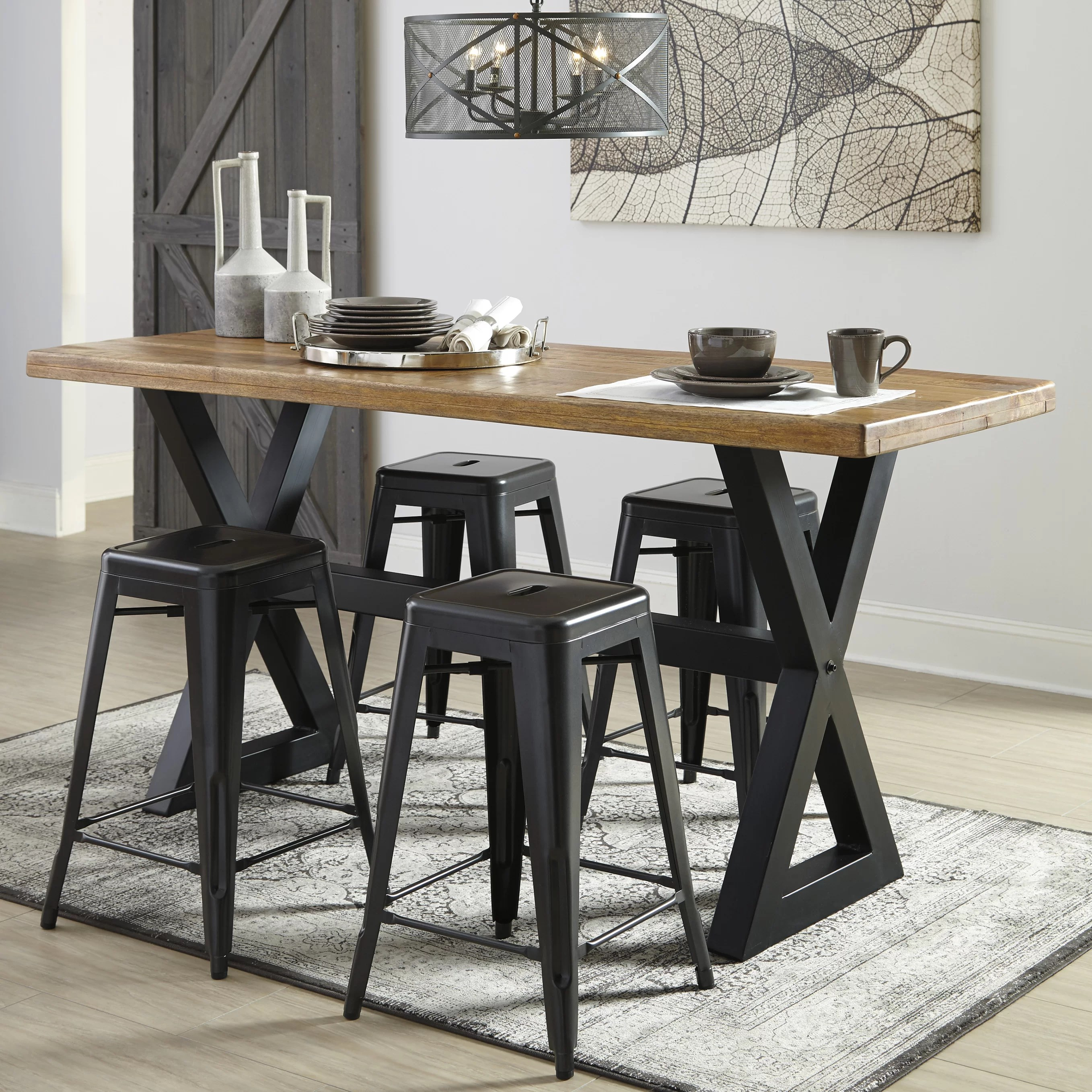 counter height dining tables c a~ counter height kitchen table Fabien Counter Height Dining Table