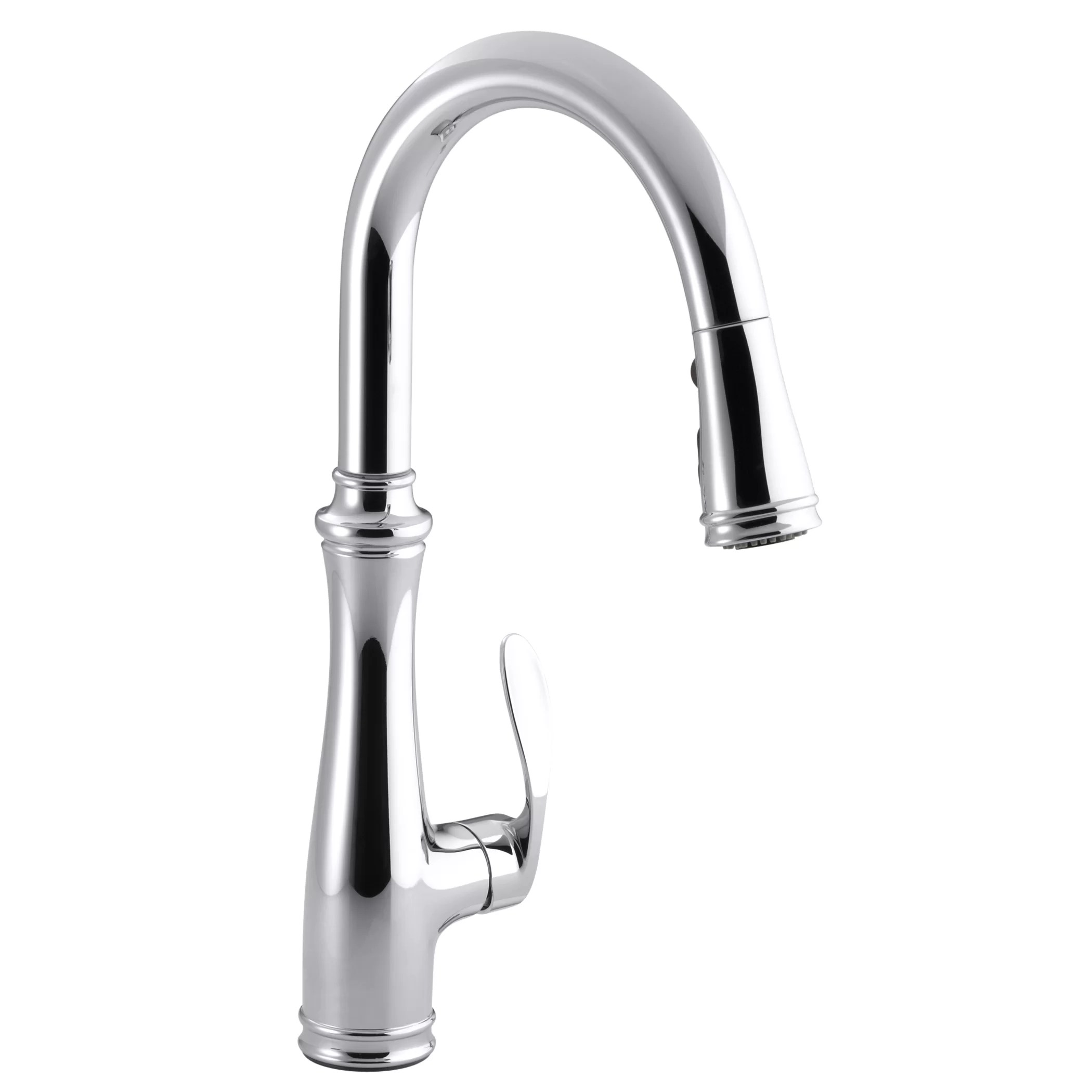 kohler c kitchen sink faucet Bellera Kitchen Sink Faucet with 16 3 4 Pull Down Spout