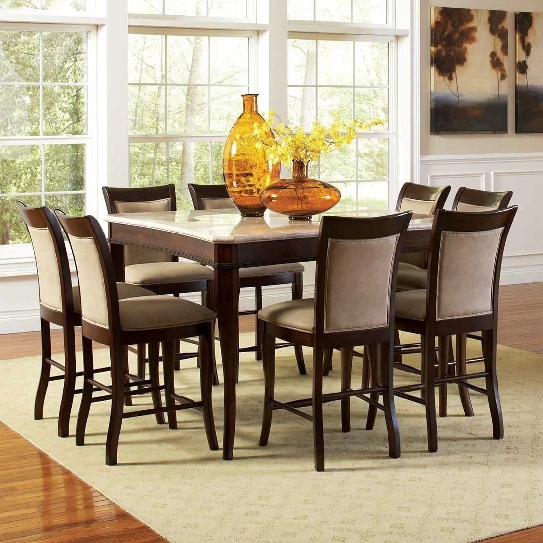 square kitchen dining tables c a~ square kitchen table Swenson Counter Height Dining Table