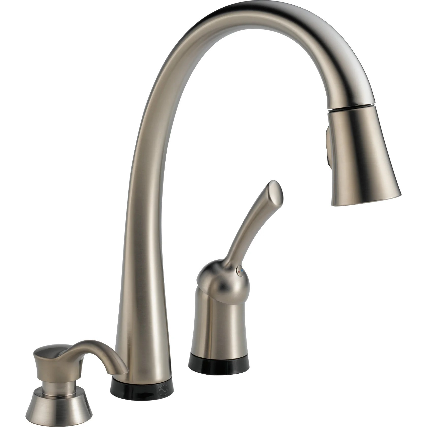 widespread kitchen faucet widespread kitchen faucet Delta Pilar Single Handle Standard Kitchen Faucet With Touch