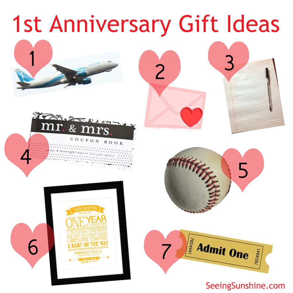 first anniversary gift ideas first wedding anniversary gift Anniversary Gift Ideas