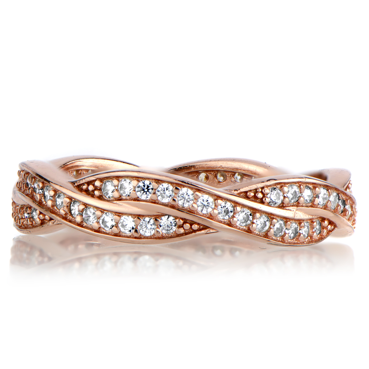 rose gold twisted band rose gold wedding rings Roll Off Image to Close Zoom Window