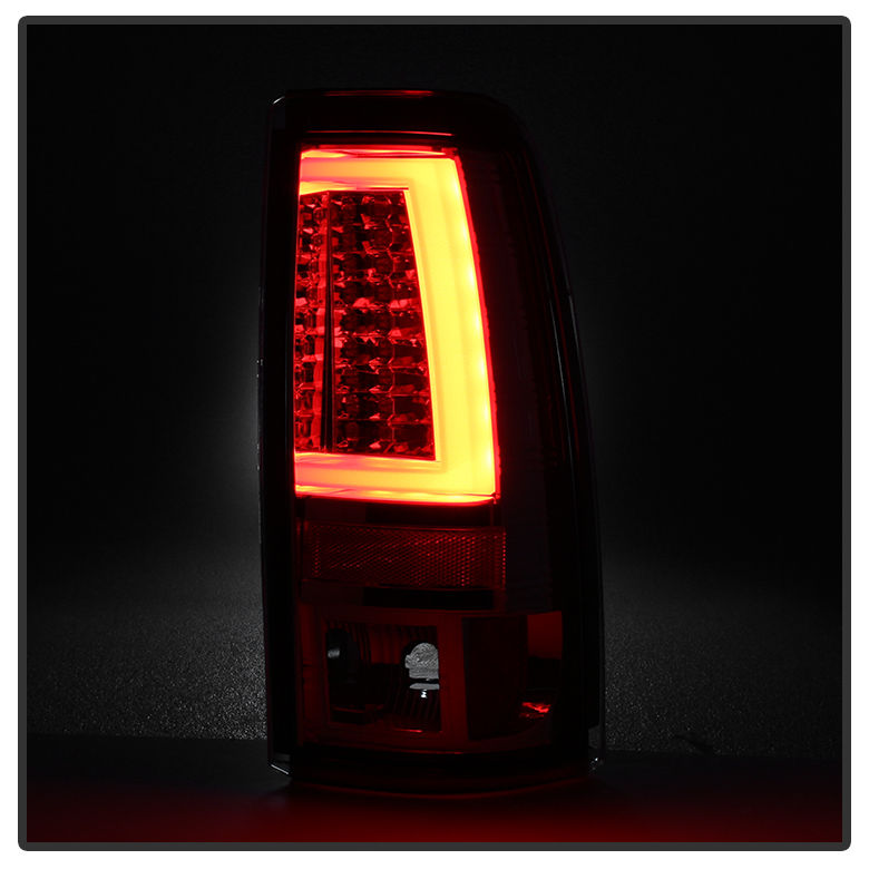 Spyder 99 02 Chevy Silverado   GMC Sierra V2 LED Tail Lights   Chrome