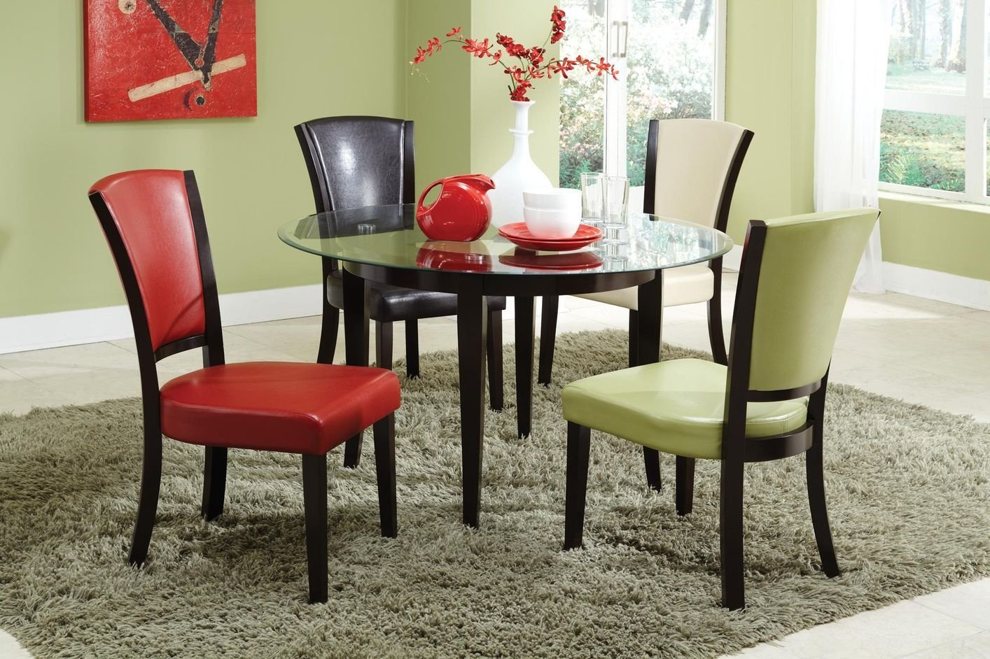 coaster charleston grn leather kitchen chairs Green Leather Dining Chair Green Leather Dining Chair