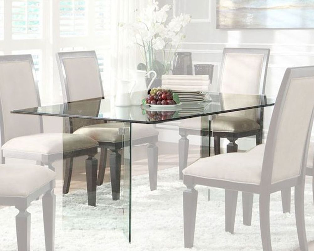homelegance rectangle glass dining table alouette rectangle kitchen table