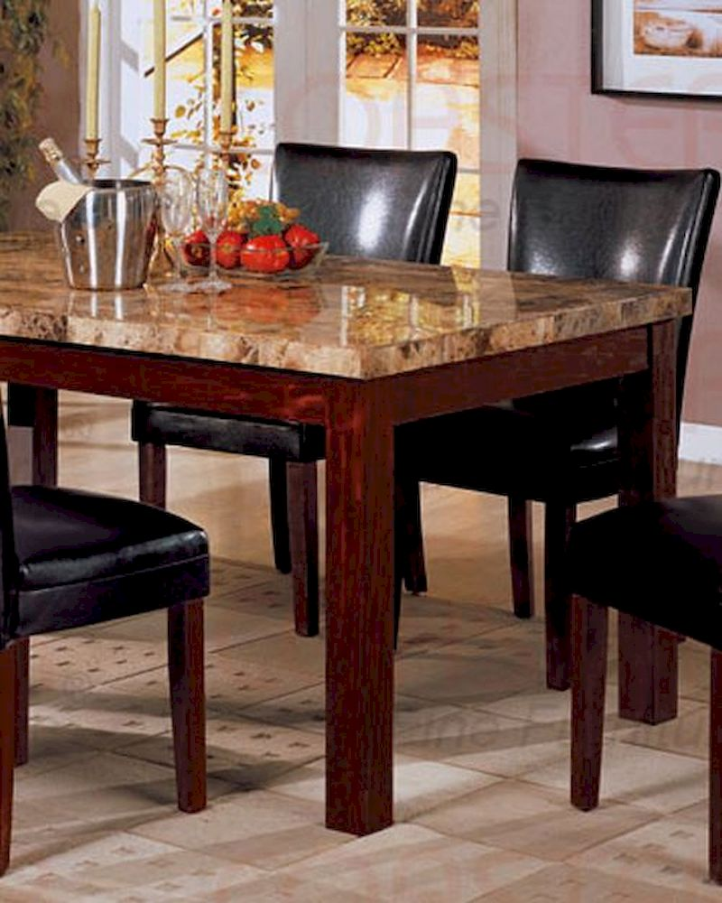 rich cherry coaster dining table marble marble top kitchen table