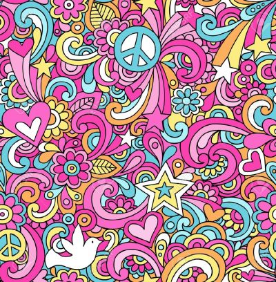 60s Psychedelic Background Free Vector - Supportive Guru