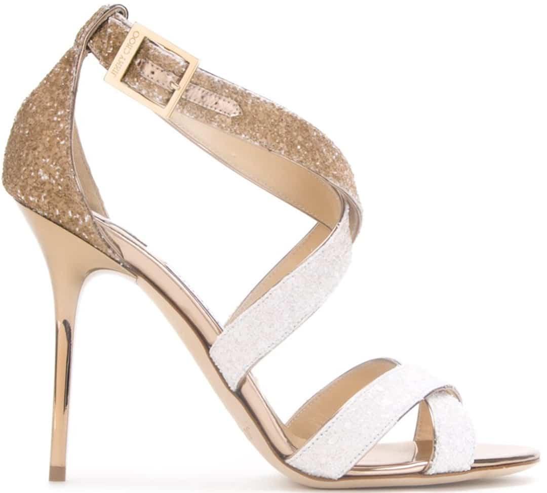 best designer wedding shoes jimmy choo wedding shoes jimmy choo lottie sandals white gold glitter strappy