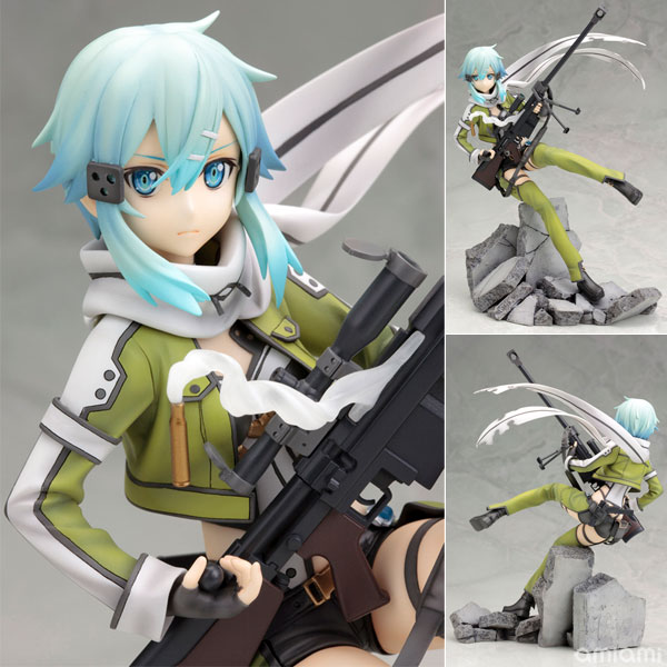 AmiAmi   Rakuten Global Market  Sword Art Online II   Sinon  Phantom     Sword Art Online II   Sinon  Phantom Bullet  1 8 Complete  Figure Released                                                                          II                     Phantom Bullet  1 8