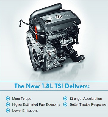 The all-new 1.8L TSI Engine: Smaller, Lighter, Turbocharged | Fall in Love with Volkswagen