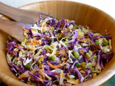 Quick Easy Low Fat Asian Slaw with Weight Watchers Points