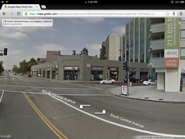 Google Maps Adds Street View To iPad And iPhone Web App   Macgasm Google Maps Adds Street View To iPad And iPhone Web App