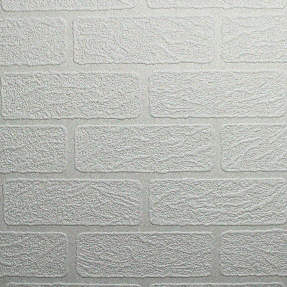 Brick Wallpaper | Brick Textured Wallpaper | Paintable