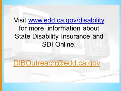 California State Disability Insurance - ppt video online download