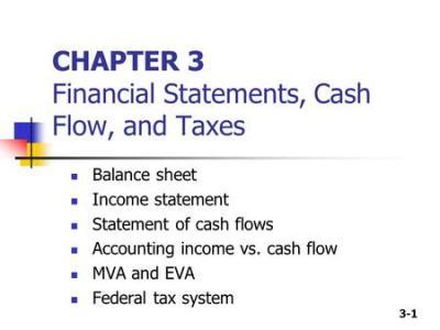 1 FINC3131 Business Finance Chapter 3: Income Statements Balance Sheets Cash Flow Statement ...