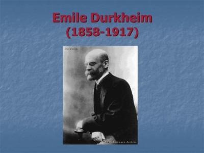 Emile Durkheim ( ). - ppt video online download