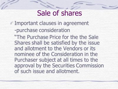 Understanding Commercial Agreements-Loans, Sale of Shares, Joint Ventures Agreement By : LEE ...