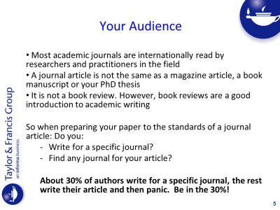 Publishing in Academic Journals Tips to Help you Succeed - ppt video online download