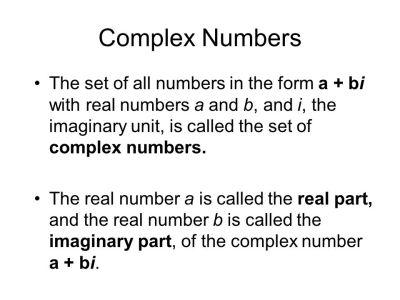 Complex Numbers. - ppt video online download